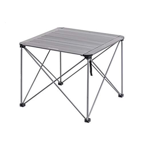 Zusammenklappbare Leichte Camping-Beistelltische For Erwachsene, Kinder, Aluminiumrahmen-tragbarer Roll-Top-Tisch Einfacher Transport For Camping-Picknickurlaub Im Freien ( Color : Gray , Size : S ) -