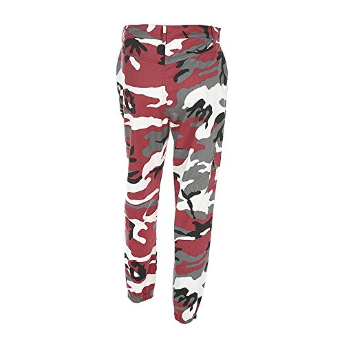 VECDY Damen Hosen Yogahosen Sport Camo Cargohosen im Freien Camouflage Hose Jeans Haremshosen Stretchhose Tanzhosen Jogginghose Sporthosen - Board Im Buchstaben Freien