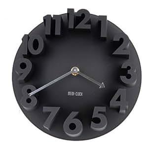 bestofferbuy kreativ minimalistische 3d nummer analog rund kunst dekor wanduhr schwarz. Black Bedroom Furniture Sets. Home Design Ideas