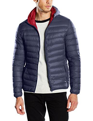 Schott NYC Silverado Extra Light Down Jacket, Giacca Uomo, Blu (Navy), Large