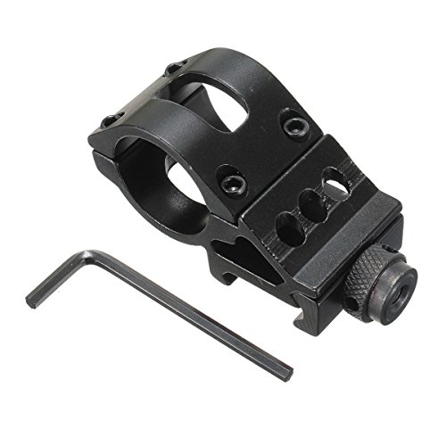 WINOMO 25mm Offset Ring Side Mount for FlashlightLaser