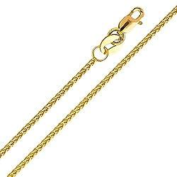 14 Karat 585 Gold Diamantschliff Spiga Weizen Gelbgold Kette - Breite 1.20 mm (50)