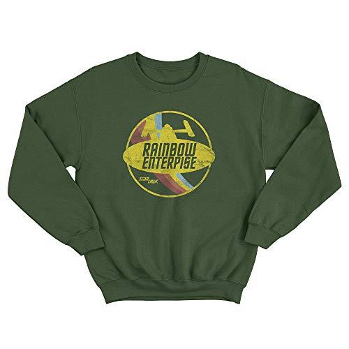 LaMAGLIERIA Unisex-Sweatshirt Star Trek Rainbow Enterprise - Set-In Sweatshirt Rock Band Retro tv Series Logo, L, Grün