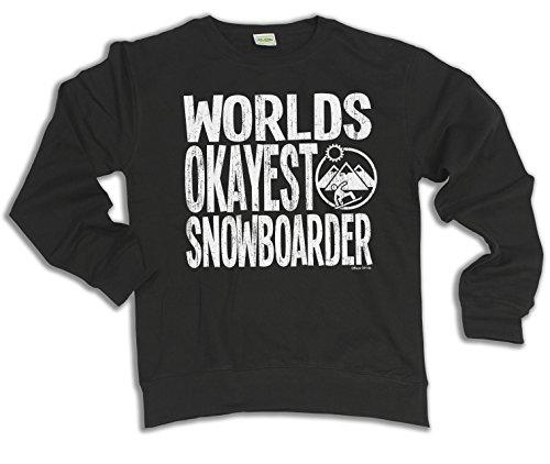 Worlds Okayest Snowboarder Snowboarding Wahl von Hoodie oder von Strickjacke Herren Damen Unisex (Sweater) Black
