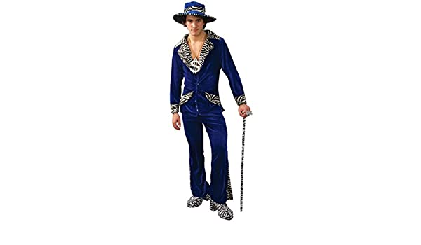 913436cb2cd1 Adult Mens 70s Gangster Daddy Blue Pimp Fancy Dress Costume Hat Small:  Amazon.co.uk: Clothing