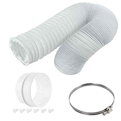 "SPARES2GO Vent Hose & Extension Ring Kit for WHITE KNIGHT Vented Tumble Dryer (4"" / 100mm Diameter) from SPARES2GO"
