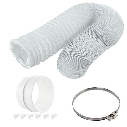 spares2go Vent Schlauch & Extension Ring Kit für White Knight Belüftete Trockner (10,2cm/100mm Durchmesser) -