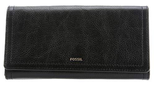 Fossil Damen Geldbörse Portemonnaies RFID Logan Flap Leder Schwarz SL7833-001 (Portemonnaie Damen Fossil)