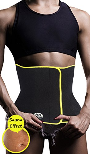 DODOING Workout Taille Trimmer Schweiß ab Gürtel Bus Taille Trainer für Schnelle Bauch Gewicht Verlust Frauen Verstellbar Sauna Anzug, Damen, Schwarz, XL/(Fit Waist 31.5-33.5 inch)