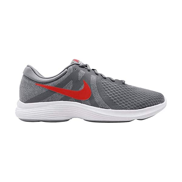 c5818f093d7d NIKE Men s Revolution 4 Cool Grey Habanero Red - Wolf Grey - White ...