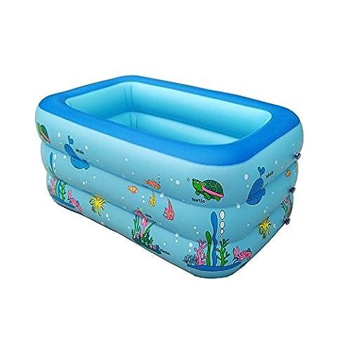 Kind PVC Aufgeblasen Pool Erwachsene Dicker Badewanne Kleinkinder und Kleinkinder Karikatur Ozean Tier Umweltschutz Pool spielen