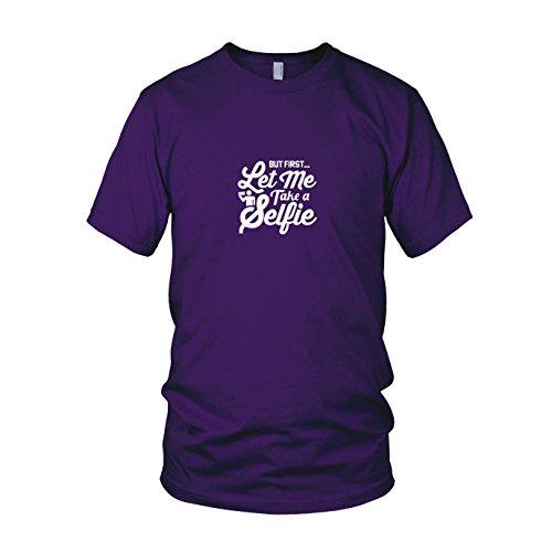 Let me take a Selfie - Herren T-Shirt, Größe: L, Farbe: lila