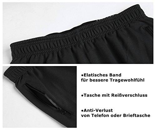 Srizgo Jogginghose Herren lang soft bequemschnell trocknend Freizeithose Trainingshose Sporthose Sweathose Sportpants Schwarz