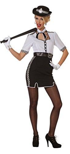 (Karneval-Klamotten Polizist Kostüm Damen Polizistin Bobby England Damen-Kostüm Größe 40)