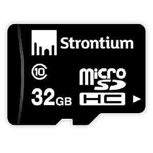 Strontium 32GB Class 10 MicroSDHC Memory Card (SR32GTFC10R)