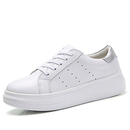 Petites chaussures blanches/chaussures femme bracelet/Sport et chaussures de loisirs/Chaussure respirante Mesdames A
