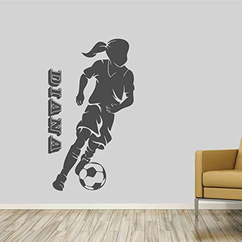 (Fushoulu 42X78CmFußball Spieler Kleines Mädchen Schlafzimmer Wand Kunst Wandbild Aufkleber Aufkleber Vinyl Removable)
