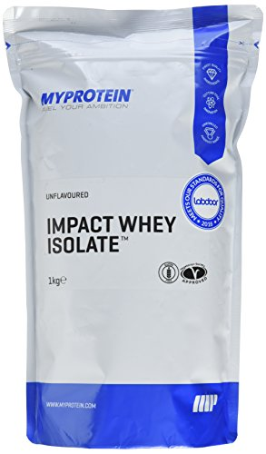 Myprotein Impact Whey Isolate Protein Unflavoured, 1er Pack (1 x 1 kg)