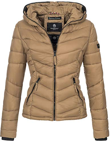 Marikoo Marikoo Damen Jacke Stepp leichte Herbst Winter Übergangsjacke XS-XXL B403 (XS, Camel)