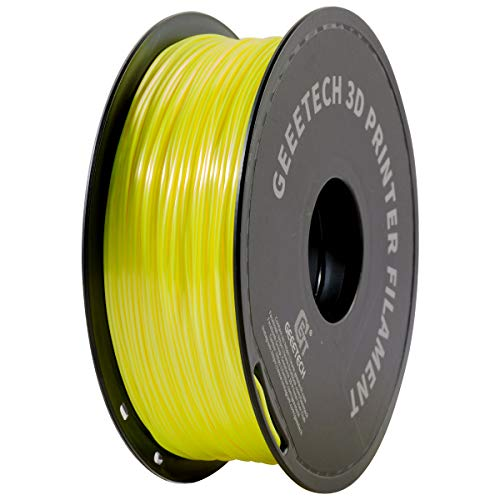 PLA filament 1.75 mm white gray, bright green in the dark, GEEETCH strand 3D printer filament 1 kg