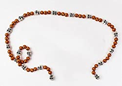 Halloween Voodoo Garland Orange Beads Skull Beads 60 D�a de Muertos