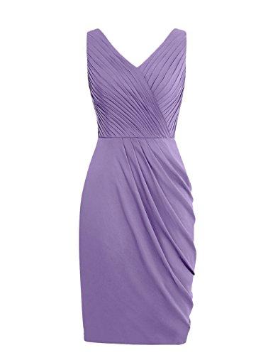 Dresstells, robe de demoiselle d'honneur Robe de soirée de cocktail courte sans manches col en V Bleu Saphir