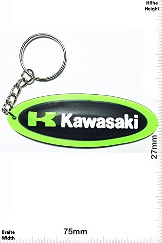 Portachiavi - Keychains - K KAWASAKI - long - Motocross BIKE - green - Motocross - Motorcycle - Motorbike - Key Ring - Kautschuk Rrubber Keyring - perfect also bags, wallets or briefcase - Give away