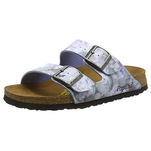 Papillio Womens Arizona Silky Rose Blue Birko-Flor Sandals 39 EU (Arizona Papillio)