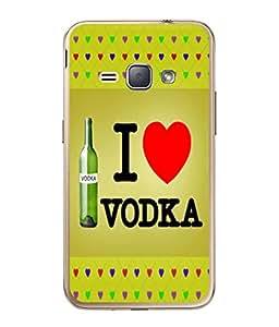 PrintVisa Designer Back Case Cover for Samsung Galaxy J1 (6) 2016 :: Samsung Galaxy J1 2016 Duos :: Samsung Galaxy J1 2016 J120F :: Samsung Galaxy Express 3 J120A :: Samsung Galaxy J1 2016 J120H J120M J120M J120T (Illustration Abstract Text Caption Message Heart Shape)
