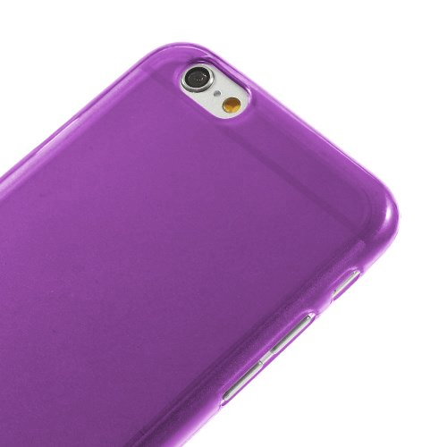 iProtect TPU Schutzhülle Apple iPhone 6, 6s Soft Case in matt Rosa TPU Soft Case Lila