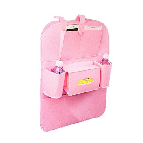 Coolster Auto Auto Sitz Rücken Aufbewahrungsbeutel Multi-Pocket Organizer Halter Aufhänger Taschen (Pink)