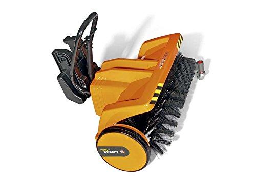 Rolly Toys 409723 rollySweepy Kehrwalze zum Frontanbau | funktionstüchtige Anbaukehrmaschine | für Kinder ab 3 Jahren | Farbe orange | TÜV/GS geprüft
