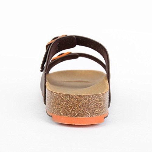 Scholl 6 Spikey Synthetic Orange Nubuck Braun Ss Brown xxTSwqFBr