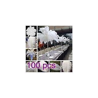 BanboYohi Mariages de décoration de Plumes d'autruche Naturelles de Haute qualité 100pcs(35-40cm)