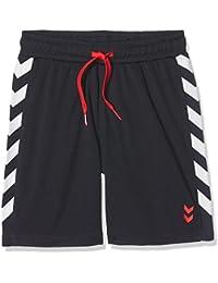 Hummel kurze Hose Jungen - JUNIOR V THIM SHORTS AW17 - Fitnesshose mit Kordel in Rot - Sporthose Blau - Laufhose mit seitlichen Taschen - Schnelltrocknend