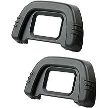 COM-FOUR indemnizaciones-ocular y ocular para Nikon Cámaras réflex D600, D610, D7000, D90, D200, D80, D70S, D70 (2 pcs)