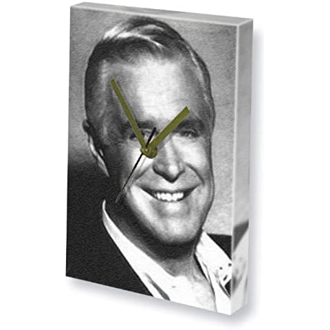 GEORGE PEPPARD - Canvas Clock (A4 - Signed by the Artist) #js001