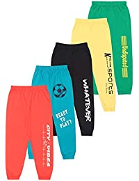 KYDA KIDS Cotton Track Pant for Boys - Bright Colors - Pack of 5