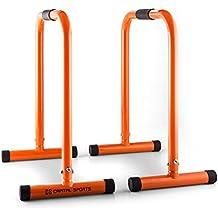 CAPITAL SPORTS Alongs Parallettes Core Trainer Fitness (Equalizer, Stahlrohrgestell, Griffpolster, Tragfähigkeit 180 kg, platzssparend) orange