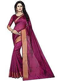 Ishin Art Silk Magenta Golden Zari Weaving Solid Party Wear Wedding Wear Casual Wear Festive Wear Bollywood New...