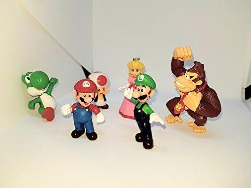 Nouvel An Offre de fête de de de nuit de carnaval au nouvel anKidzplay Lot 6 Figurines Mario | Impeccable  5ae141