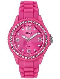 Mango A68346 - 1P14P - Reloj para mujeres, correa de goma color rosa