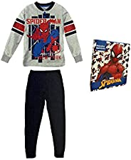 Sabor Pigiama Bambino Estivo Spiderman, Pigiama Bambino in Cotone, Pigiama Bambino Lungo Disney Marvel