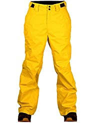 Dos pies descalzos de los niños martillo de carpintero pantalones de esquí niños nieve esquí pantalones, Infantil, color Sun Yellow, tamaño 128