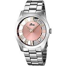 fb70747bee7c Lotus Watches Reloj Análogo clásico para Mujer de Cuarzo con Correa en  Acero Inoxidable ...