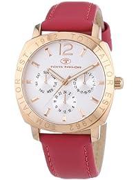 Tom Tailor  0 - Reloj de cuarzo para mujer, con correa de cuero, color rosa