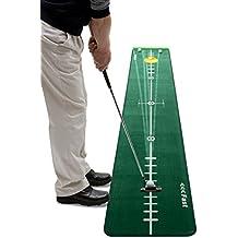 Best Track - Alfombrilla técnica para entrenamiento de golf (incluye tope y soporte de silicona para pelota y limpiador para estera)