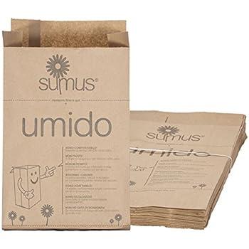 Sacchetti di carta per umido e organico biodegradabili e compostabili (30 X 20) - 8 litri - 50 sacchetti Bio