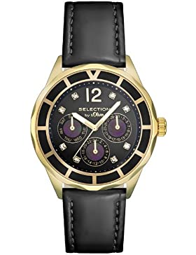 s.Oliver Damen-Armbanduhr Analog Quarz Leder SO-2541-LM