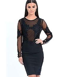 49c7c23d530c Forever Unique Women's Talisa Lace Embroidered Bodycon Dress - Black